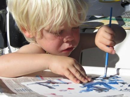 Emile imite Picasso