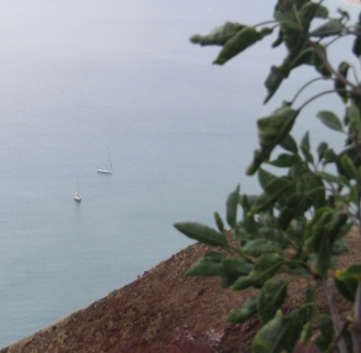 Vue plongeante sur Sea You et Talitha